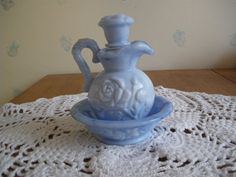 Vintage Avon Blue Slag Glass Pitcher and by GotMilkGlassAndMore, $8.95