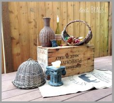 Different Vignettes on an Old Crate