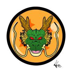 Shenlong head logo / Dragon ball z by Kaji-zu on DeviantArt Manga Dragon, Dragon Z, Dragon Ball Gt, Dragon Shenlong, Logo Dragon, Graphic Artwork, Anime Tattoos, Graffiti Lettering, Kid Goku