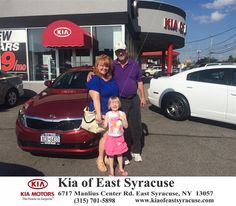 """Thank you so much Eduardo!! You really went out of your way to help us with our """"upside down"""" car. Thank you so much for taking your time to get us out of a bad situation! You're the best & hope to always do business with you!!!-Sheila Young, Monday, June 22, 2015  http://www.kiaofeastsyracuse.com/?utm_source=Flickr&utm_medium=DMaxxPhoto&utm_campaign=DeliveryMaxx"""