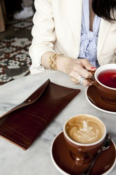 The outfit, the clutch, the coffee & tea - wonderful.