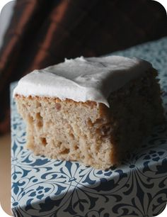 October Spice Cake with Cardamom-Cinnamon Cream Cheese Frosting
