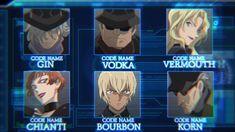 Detective Conan Black Organization, Detective Conan Gin, Amuro Tooru, Detektif Conan, Kudo Shinichi, Case Closed, Korn, Bourbon, Shit Happens