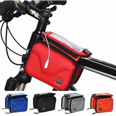 HOT Waterproof Hard Bicycle Bag Bike Front Bag Tube Phone Bag Frame packet Double Pouch Cycling Bags Bicycle Accessories 4 Color