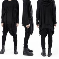 mens fashion post apocalytic dark mori boy .. lol