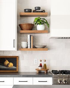Home Decor Kitchen .Home Decor Kitchen Kitchen Shelf Decor, Floating Shelves Kitchen, Kitchen Wall Shelves, Open Shelf Kitchen, Modern Kitchen Wall Decor, Small Shelves, Open Shelves, Kitchen Shelf Design, Kitchen Staging