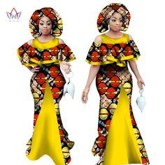 African Sleeveless Mermaid Dress