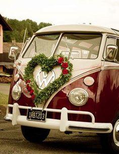 Hochzeitsauto: VW Bulli Bus