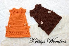 The Slanted Life: Chicken Sweaters Are Going To The Hens #Crochet #Chicken Sweaters