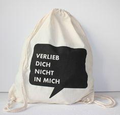 Verlieb Dich Nicht in Mich von PP-Berlin - Stencil Art / Textilgestaltung auf DaWanda.com