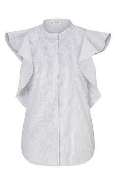 Sensitive Volume Ruffle Shirt by DOROTHEE SCHUMACHER for Preorder on Moda…