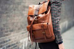 @Beginia Cheung - leather backpack