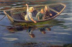 Wilhelm Otto Peters (Norway,1851-1935): Crabfishing - Christiania