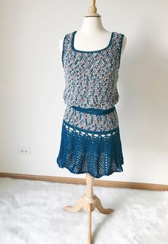 9bf54ef0f5 Cotton Crochet Beach Dress Pattern, Lacey Pool Cover Up Crochet Pattern,  Instant PDF Download