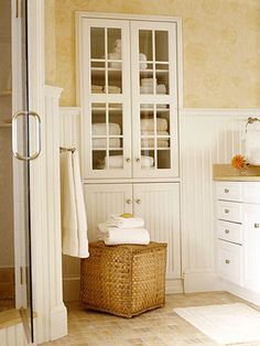 Built In Bathroom Storage Cabinets