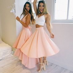 """""""Gorgeous  Our 'Envy' maxi dress + 'Crossed Off' top + 'Whirl Wind' skirt are the prettiest! Tag your bestie! Shop them now via the link in our bio ☝…"""""""