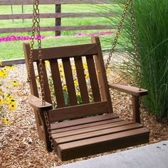 A&L Furniture Co. Traditional English Red Cedar One Person Swing - 401C