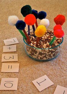 Truffula tree math for Dr. Seuss theme