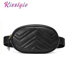 Vintage Women Zipper Pure Color Pack Waist Packs Silver Quilted Pu Leather Messenger Shoulder Bag Chest Bag