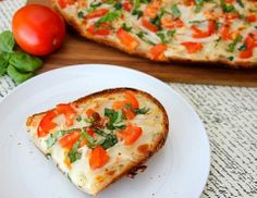Chicken French Bread Pizza - White or Red sauce - 10 minutes! :)