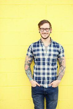 "thisfellow: ""Bobby Hicks Shirt: J Crew Jeans: J Crew Shoes: Tommy Hilfiger Glasses: Bon Look """