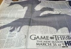 Game of Thrones dragon ad on NYTimes