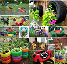 How to Reuse Old Tires : 30 Different Ways To Repurpose Old Tires | http://www.designrulz.com/design/2015/10/how-to-reuse-old-tires-30-different-ways-to-repurpose-old-tires/