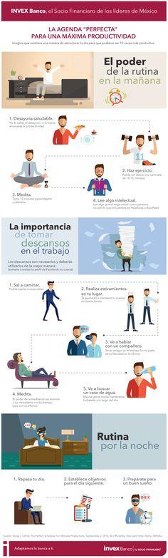 Hola: Una infografía con la La agenda perfecta para una máxima productividad. Vía Un saludo