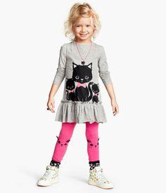 H&M - Three Black Kitties Dress