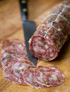 Winter Salami (Salumi Artisan Cured Meats - Seattle, WA) - Seasoned with Red and Green Peppercorns - a touch of garlic and milk solids. *Seasonal*