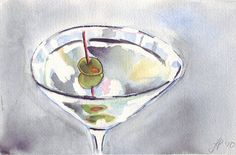Hey, I found this really awesome Etsy listing at https://www.etsy.com/listing/52225344/5x7-martini-watercolor-painting
