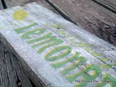 Make Your Own Wood Sign - * THE COUNTRY CHIC COTTAGE (DIY, Home ...