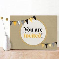 Bekijk de foto van Oktoberdots met als titel Stoere uitnodiging door Oktoberdots voor een verjaardag of ander feestje, ook voor volwassenen heel leuk te gebruiken! en andere inspirerende plaatjes op Welke.nl.