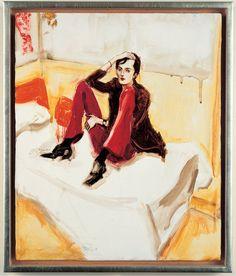 "Elizabeth Peyton: 1996: Jarvis on a Bed Photo - Portraits of Kurt Cobain, John Lennon and More: ""Live Forever: Elizabeth Peyton""   Rolling Stone"