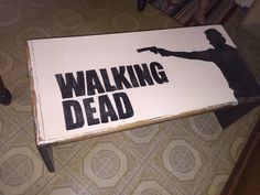Walking Dead Coffee Table that will be available at the Junk in the Trunk show at WestWorld in Sept 2016 Booth #99