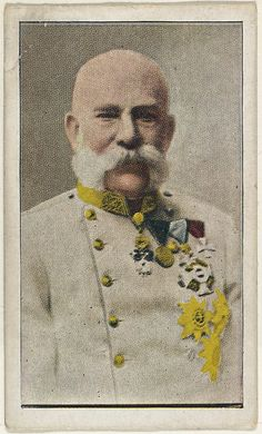 Card No. 4, Emperor Franz Joseph of Austria, from the World War I Scenes series (T121) issued by Sweet Caporal Cigarettes, ca. 1914. The Metropolitan Museum of Art, New York. The Jefferson R. Burdick Collection, Gift of Jefferson R. Burdick (Burdick 246, T121.4)