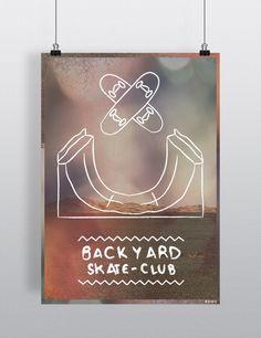 romk-art: Poster : BACKYARD SKATE-CLUB Available in A3 & A4  Find it here :  ETSY : https://www.etsy.com/shop/ROMK A Little Market : http://www.alittlemarket.com/boutique/romk-770965.html Shipping worldwide.