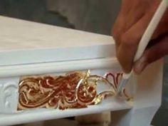 ▶ «Золочение» - нанесение на поверхность изделия листового (Поталь) золота, серебра и других металлов - YouTube