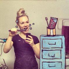 Clever Artist Turns Doodles Into Imaginative Mirror Selfies - My Modern Met