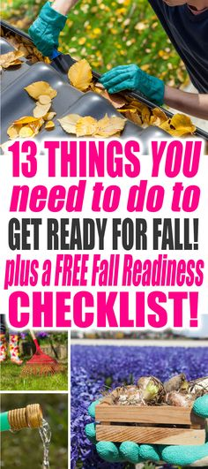 13 Things You Need to Do to Get Ready for Fall. Grab your FREE Fall Readiness Checklist Printable Now! Fall Cleaning, Cleaning Hacks, Deep Cleaning, Fall Checklist, Housekeeping Tips, Home Economics, Cleaners Homemade, Get Ready, Organization Ideas