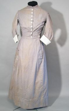 """""""This student nurse's uniform is from the wardrobe of Bertha Cunliffe, the first matron at the Vancouver General Hospital. Bertha arrived from England in 1916; the uniform was probably made in England, and used as late as the 1920s in Vancouver."""" #vintage #nurse #uniform #Edwardian #Canada"""