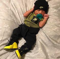 Black Baby Boys, Cute Black Babies, Cute Funny Babies, Cute Little Baby, Pretty Baby, Cute Baby Girl, Baby Jordan Outfits, Cute Baby Boy Outfits, Cute Outfits For Kids