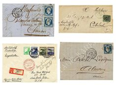 ANTIQUE LETTERS ENVELOPES - France Germany - French and German Handwriting,Stamps - two Digital Downloads, Iron on Transfer,Print,Cards on Etsy, £1.36
