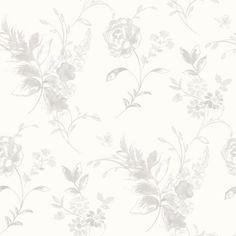 Tapete Graceful Living 10 m x 53 cm East Urban Home Farbe: Weiß Geometric Wallpaper Murals, Wallpaper Panels, Wallpaper Roll, Wall Wallpaper, Art Deco Tiles, Elephant Parade, Vintage Library, Tile Panels, Embossed Wallpaper
