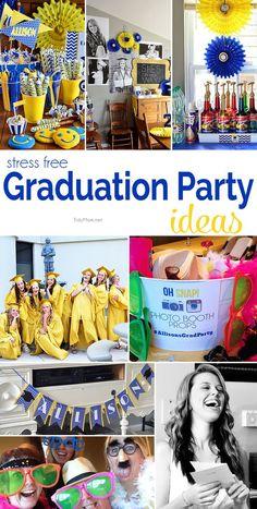 Stress Free Graduation Party ideas at http://TidyMom.net