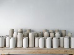 Another super busy week in the studio. I've transitioned from throwing bud vases to throwing the Skala Classics.
