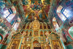 Church of Anna Conception - Beautiful church in small town Chekhov outside Moscow. by Yevgeniy Rozhkov    Burial place of Pushkin older son and grandson.