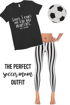 The perfect outfit for soccer moms!!! Love that shirt. YES my kid has practice again! LOL! www.babalusbylucy.com #soccerpracticeforkids