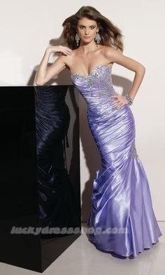Lilac Mermaid/Trumpet Long/Floor-length Natural Taffeta Prom Dress (MF5AC7)-LuckyDressShop.com