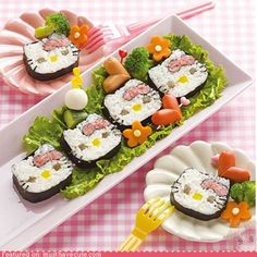 In Japanese culture, sushi is considered to be an art form because its appearance is just as important as how it tastes.   [ link ]   [ link...